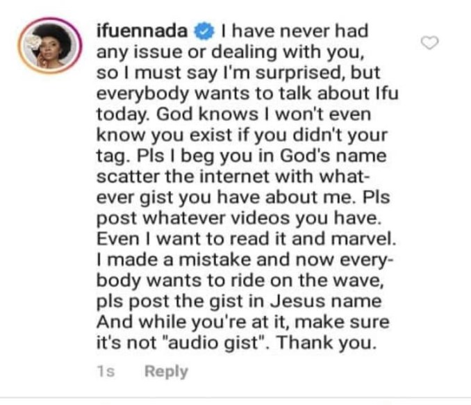 I will come for you one day and I will put out dirty facts about you - Okoro Blessing tells Ifu Ennada as they clash on Instagram