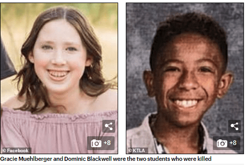 Teen gunman who killed 2 students and injured three others in California high school shooting dies from his injuries