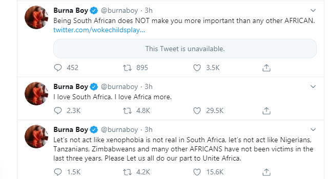 Go and demand for apology from your real enemies - Burna Boy tells AKA and others as he acknowledges Julius Malema
