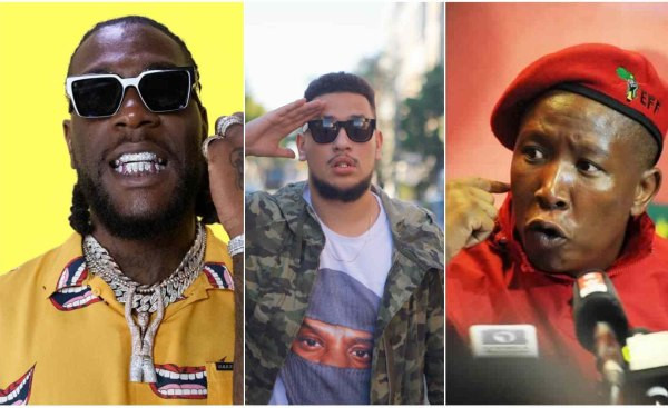 Go and demand for apology from your real enemies – Burna Boy tells AKA and others as he acknowledges Julius Malema's protection assurance