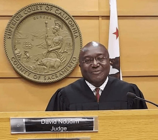 Nigerian born lawyer, David Ndudim named judge of the superior court of California