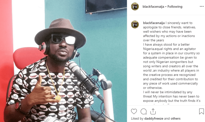 Blackface files suit against 2face Idibia over alleged song theft