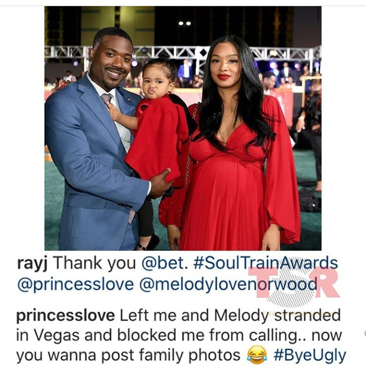 Marriage crisis: Ray J pleads as Princess Love promises to divorce him after she claimed he left her and their child stranded in Vegas