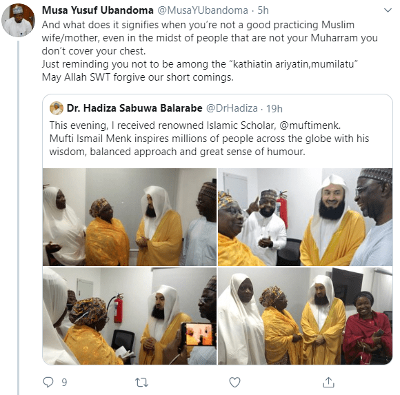 """""""You?re not a good practicing Muslim"""" Muslim man calls out Deputy Governor of Kaduna state, Dr. Hadiza Balarabe for not"""