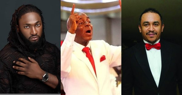 "Bishop Oyedepo shares testimony of his photo ""http://www.lindaikejisblog.com/""speaking in tongues and saving kidnap victims""http://www.lindaikejisblog.com/""; Uti Nwachukwu, Beverly Osu and Daddyy Freeze react (video)"