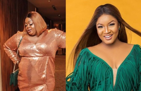 Eniola Badmus reacts to Omotola Jalade Ekeinde guessing who she is during an interview (video)