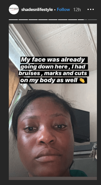 Lady accuses police officer of assaulting her for refusing a phone check