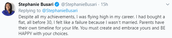 CNN correspondent, Stephanie Busari cautions young women as she narrates how pressure drove her into a marriage that lasted just three years