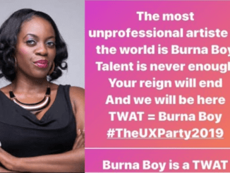 Burnaboy is the most unprofessional artiste in the world, your reign will end – Media personality, Shade Ladipo fumes