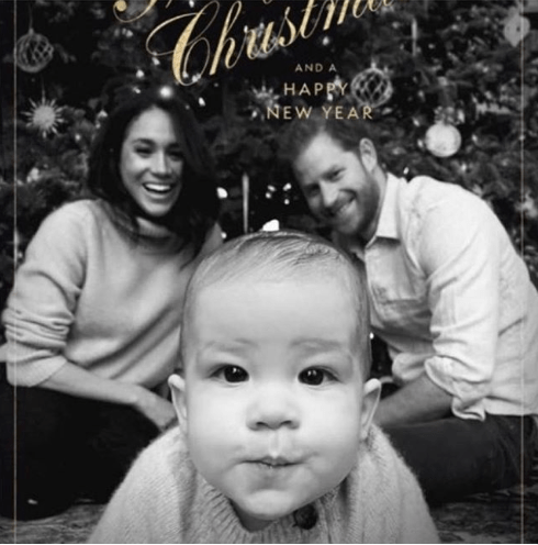 Prince Harry and Meghan Markle release family Christmas card with baby Archie taking centre stage