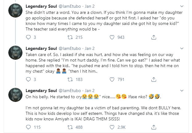 Nigerian man narrates how he stopped kids from bullying his daughter in the US