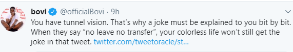 Bovi slams Twitter influencer who didn