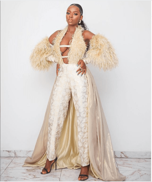 BBNaija star Diane Russet dazzles in cleavage-baring outfit (Photos)