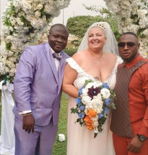Nigerian man, Michael from the reality show 90 Day Fiance, finally weds his much older Caucasian fiancee (photos/video)