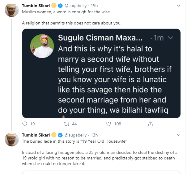 Nigerian feminist mocks Muslim women who want to remain the only wife