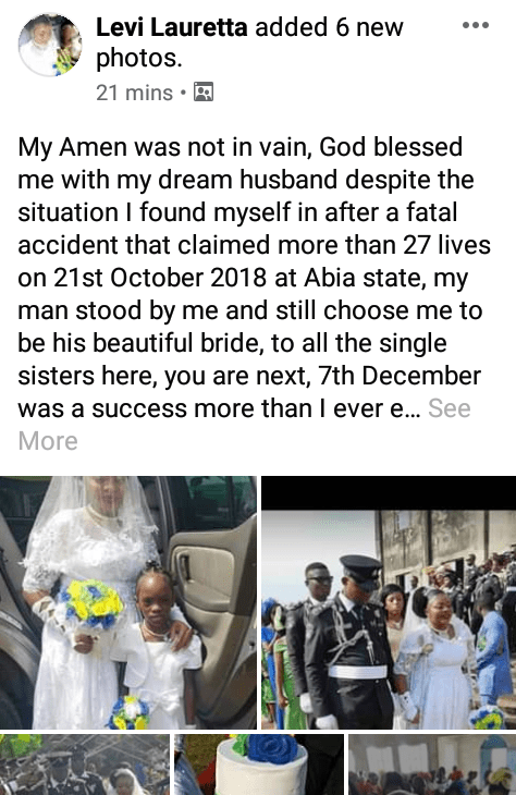"""""""God blessed me with my dream husband despite the situation"""
