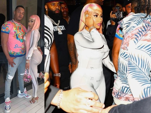 Nicki Minaj goes clubbing with her husband (Photos)