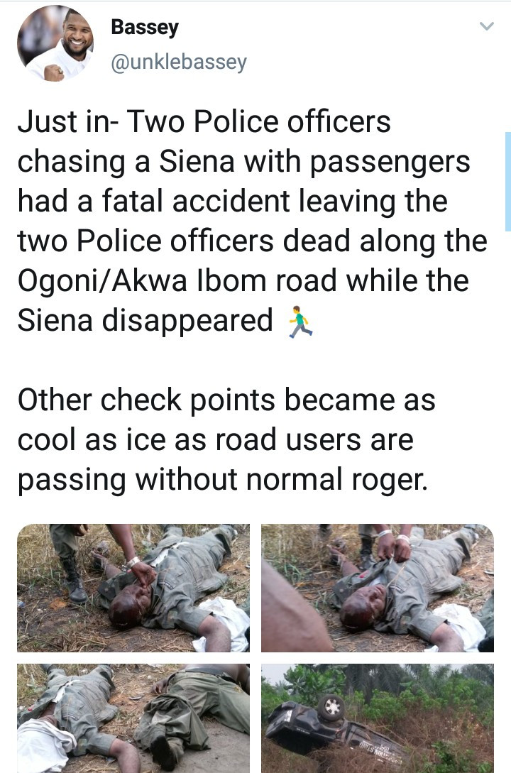 Two police officers die in a car accident while chasing a commercial vehicle (graphic photos)