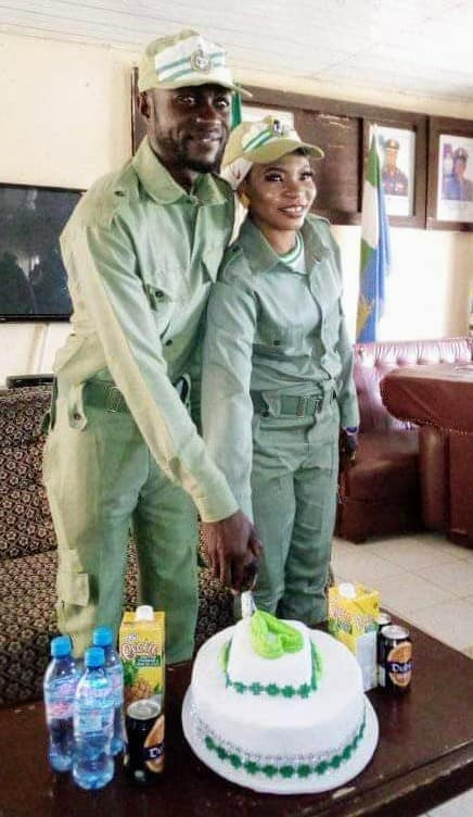 Serving corps members marry in NYSC uniform (photos)