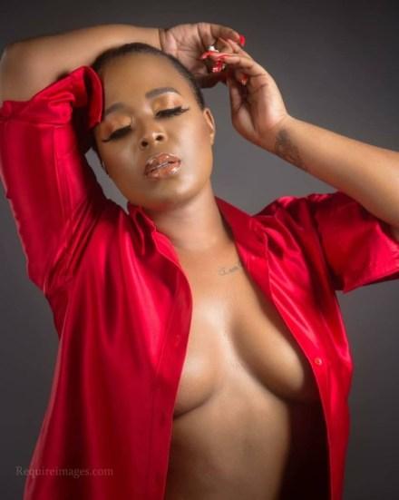 OAP, Moet Abebe, poses braless in new photos