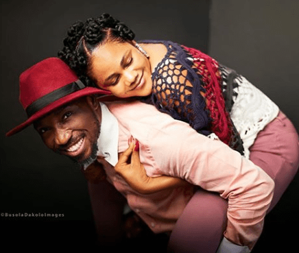 ''You have shown an unusual display of machismo through your help, love and care'' Busola Dakolo tells hubby, Timi, as she wishes him a happy Valentine's day