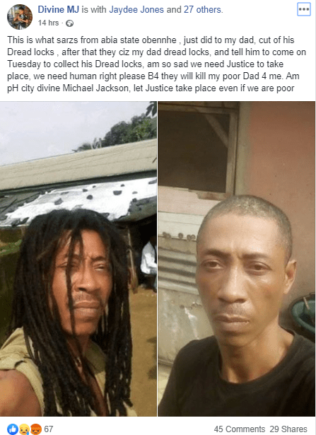 Nigerian man cries for justice as he accuses SARS of cutting off his father