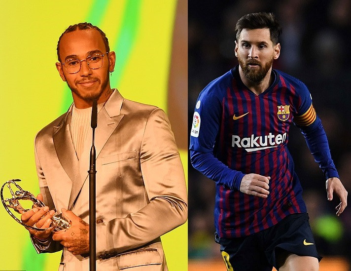 Lionel Messi and Lewis Hamilton share Laureus World Sportsman of the Year award