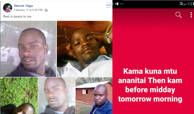 Man commits suicide after taking to Facebook to write