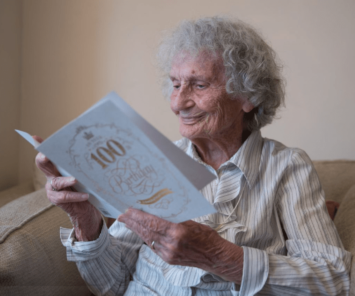 Great-great-grandmother celebrates her
