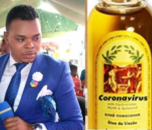 Bishop Obinim sells coronavirus anointing oil to his members for 13,000 Naira