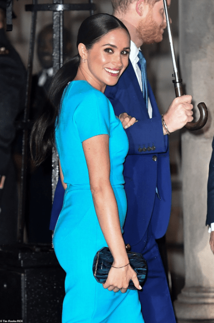Meghan Markle makes her first public appearance in Britain since she and Prince Harry announced they were stepping back from their roles as