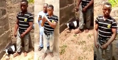 OMG! Man caught red-handed having sex with a goat in Ekiti (video)