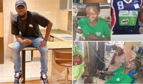 Super Eagles player John Ogu pays $1000 for treatment of Nigerian basketball player Debora Onah who's down with Spinal tuberculosis (images)