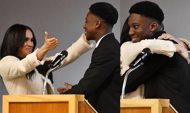 Nigerian teen who hugged Meghan Markle writes letter to Prince Harry