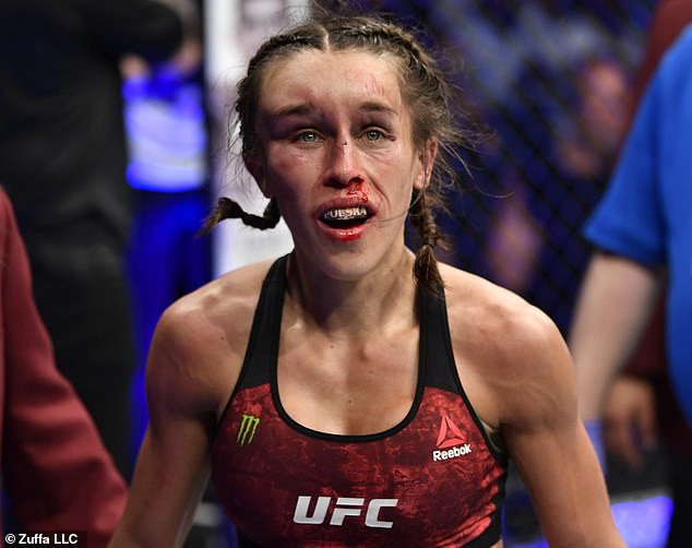 Two female MMA fighters are suspended after their brutal bout left them disfigured (Photos)