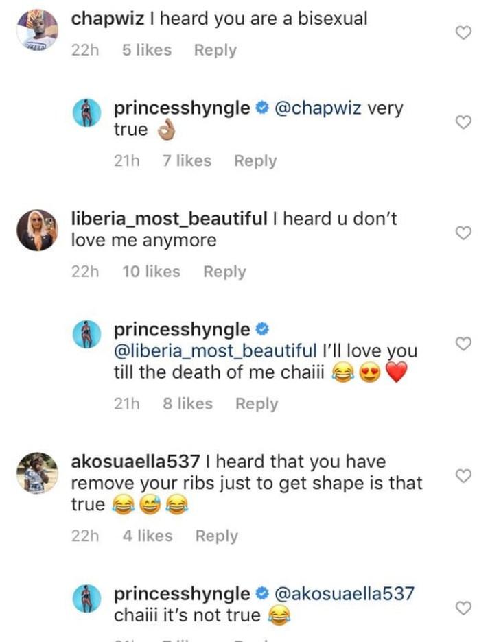 Actress Princess Shyngle finally confirms she