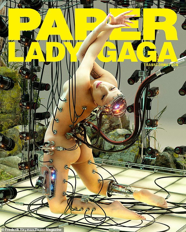 Lady Gaga show off bare butt as she poses nude for Paper magazine cover (photos)