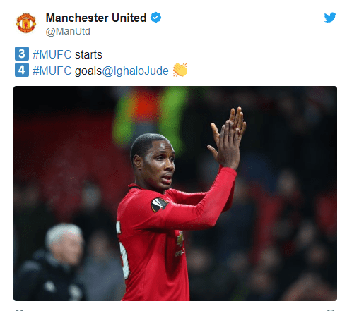 Odion Ighalo nominated for his very first Manchester United award