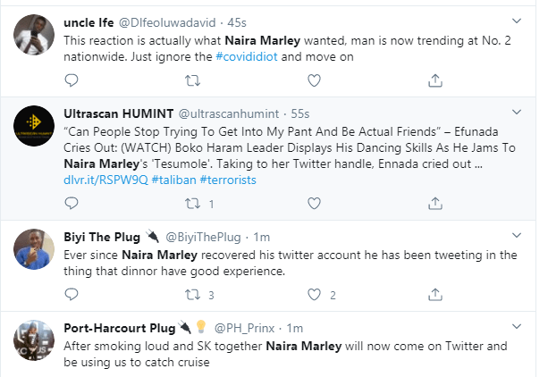 Naira Marley dragged on Twitter for his post on coronavirus