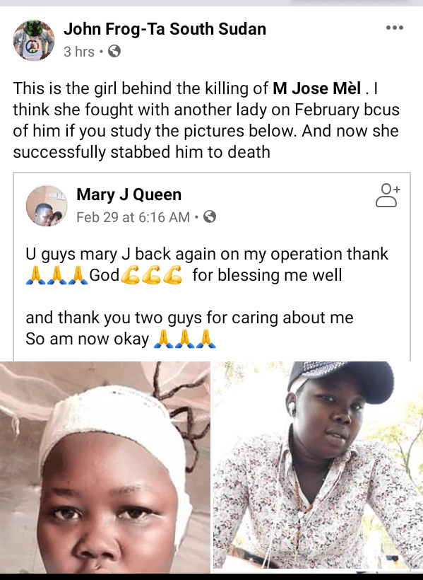 """Sudanese medical student allegedly stabbed to death by his girlfriend hours after he posted """"Imagine the world without girls"""