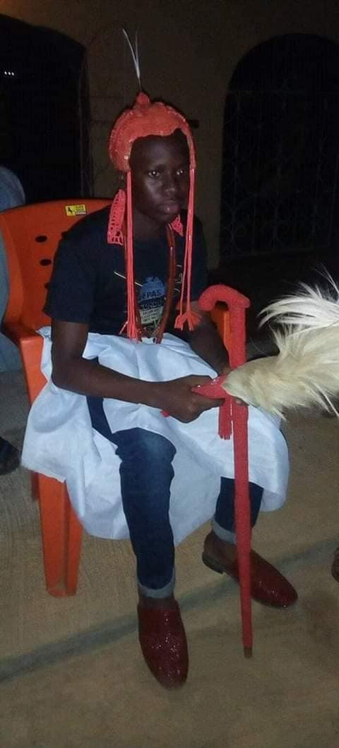 15-year-old Senior Secondary School student appointed king in Ondo State after death of his father