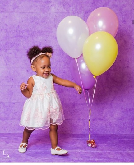 Tania Omotayo shares new photos of her daughter to celebrate her 1st birthday