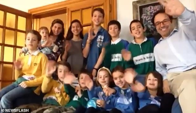 Father reveals his entire family including eleven children have caught Coronavirus