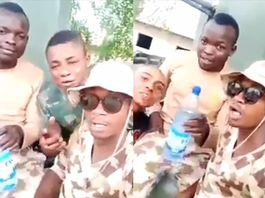 Another video of Nigerian soldiers threatening Warri residents for attacking soldiers after a youth was killed in Warri