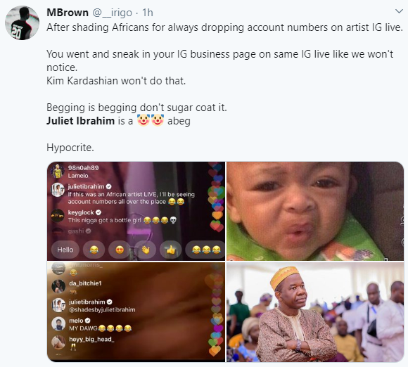Juliet Ibrahim and IK Ogbonna dragged mercilessly on Twitter for their comments on Tory Lanez