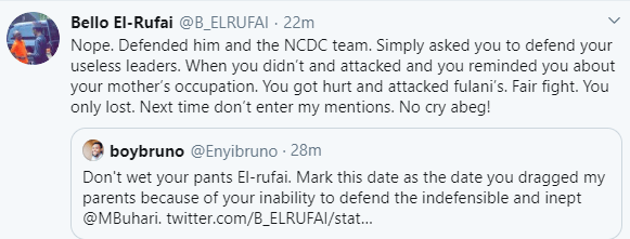 COVID19: Bello El-Rufai drags Nigerians tackling him for insinuating Donald Trump is an incompetent leader