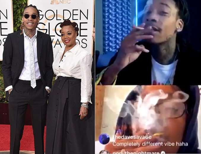 Wiz Khalifa smokes weed with his mom as they face off in