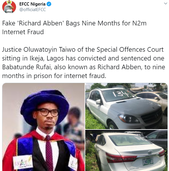 Popular Lekki clothier, Tunde Wear It All bags 9 months jail term for N2m fraud, forfeits cars to FG