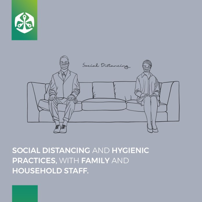 Social Distancing and Hygienic Practices, with Family and Household Staff