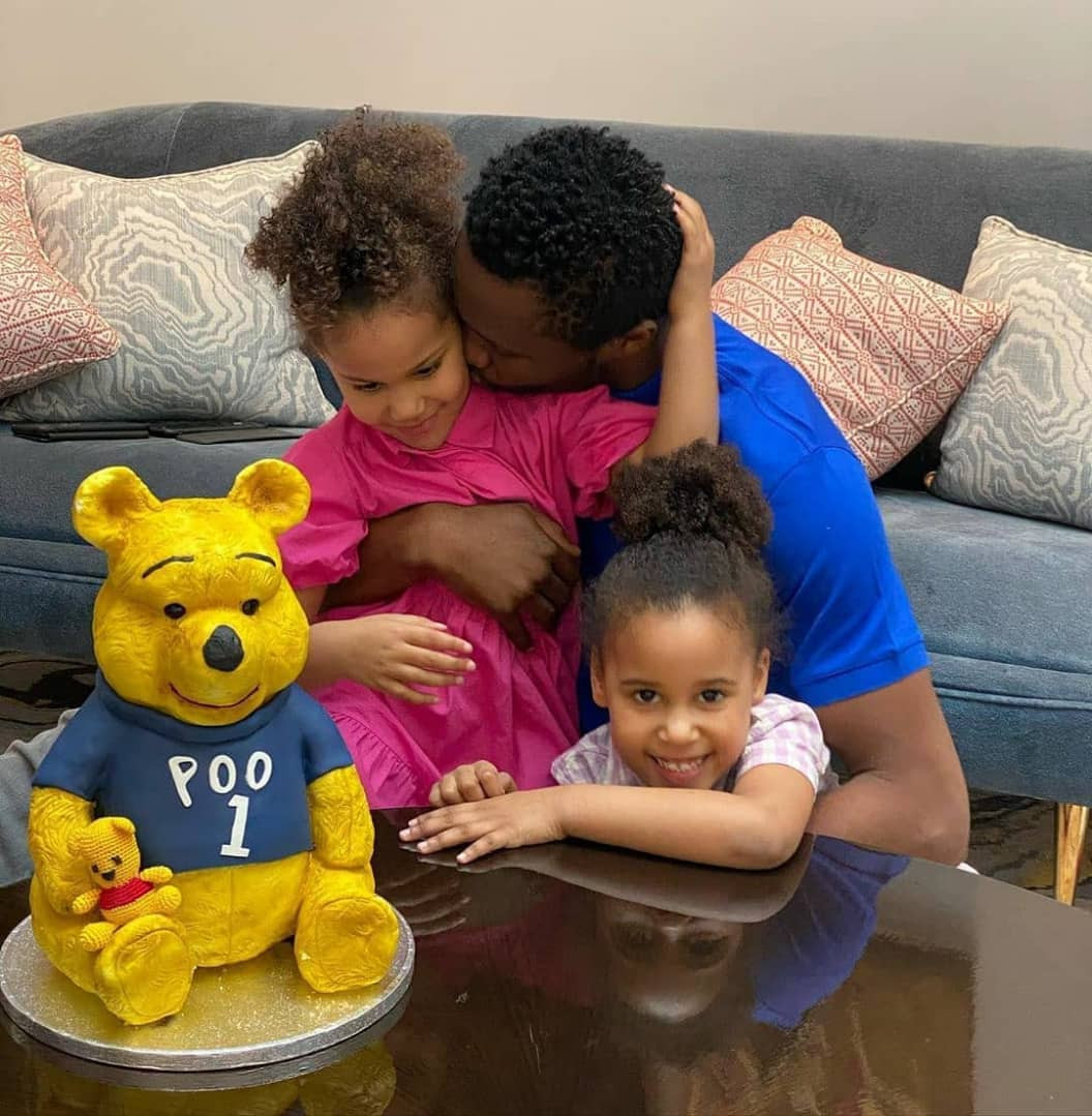 John Mikel Obi celebrates his 33rd birthday with his partner and twin daughters at their home (photographs)